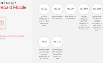 airtel new recharges